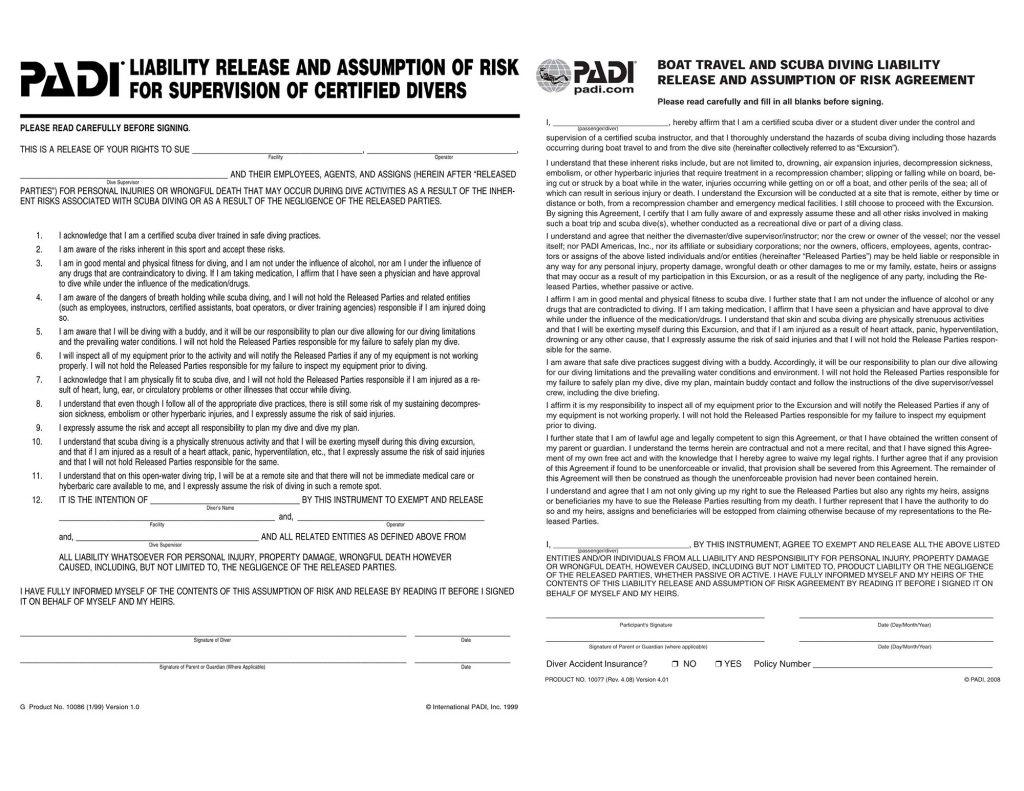 padi-liability